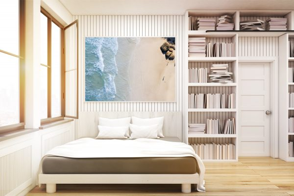 Home Library With A Bed, Toned