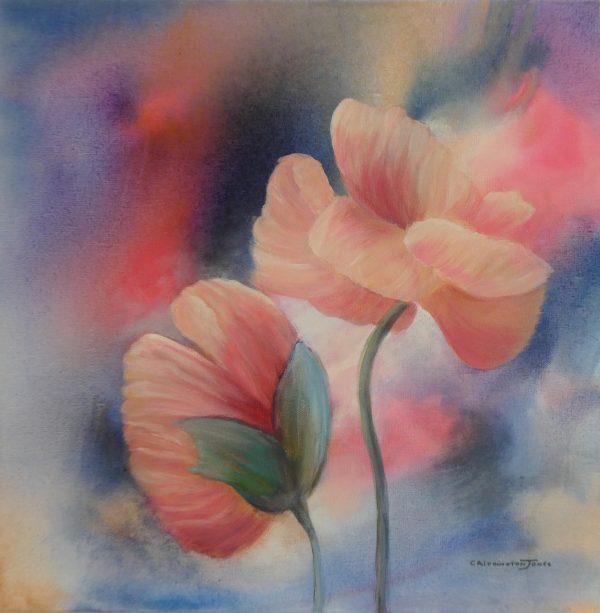 Clare Riddington Jones, The Soothing Benefits Of Flowers, 60cm X 60cm Copy