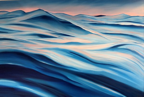 Come Swim With Me Front Unframed Oil Painting Alanah Jarvis