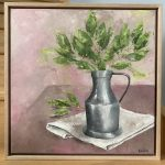 Pewter, Linen and Bay Leaves