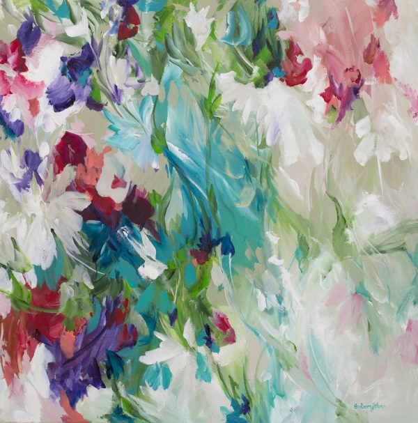 Floral Escape Painting By Amber Gittins