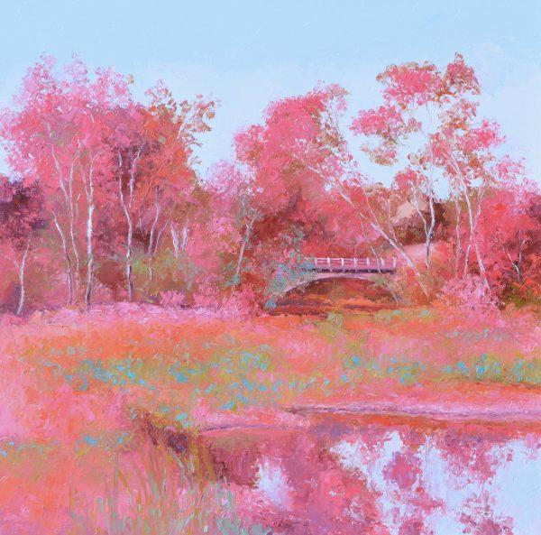 Landscape In Pink By Jan Matson 600x593