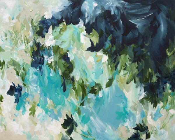 Spearmint Dreams Abstract Floral By Amber Gittins