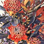 Wandering Waratah Ltd Ed Fine Art Print No 6 of 30