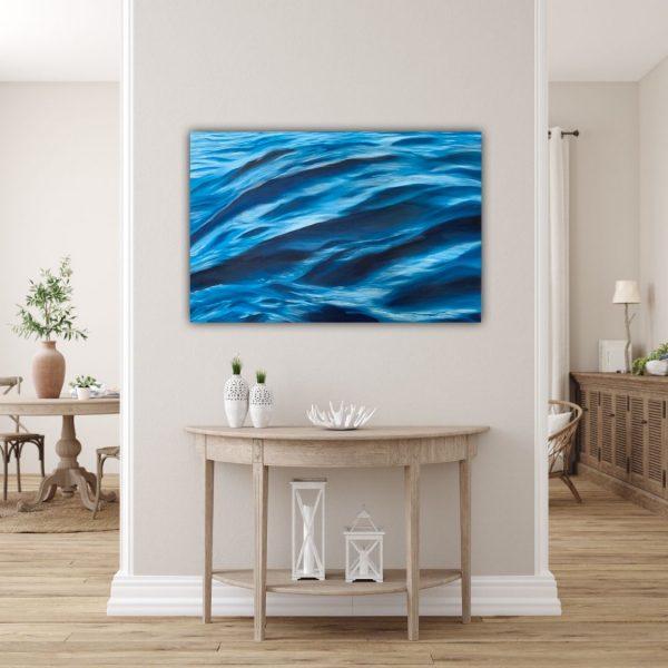 An Ocean Apart Oil Painting Coastal Decor Alanah Jarvis Unframed