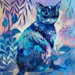 Blue cat stare