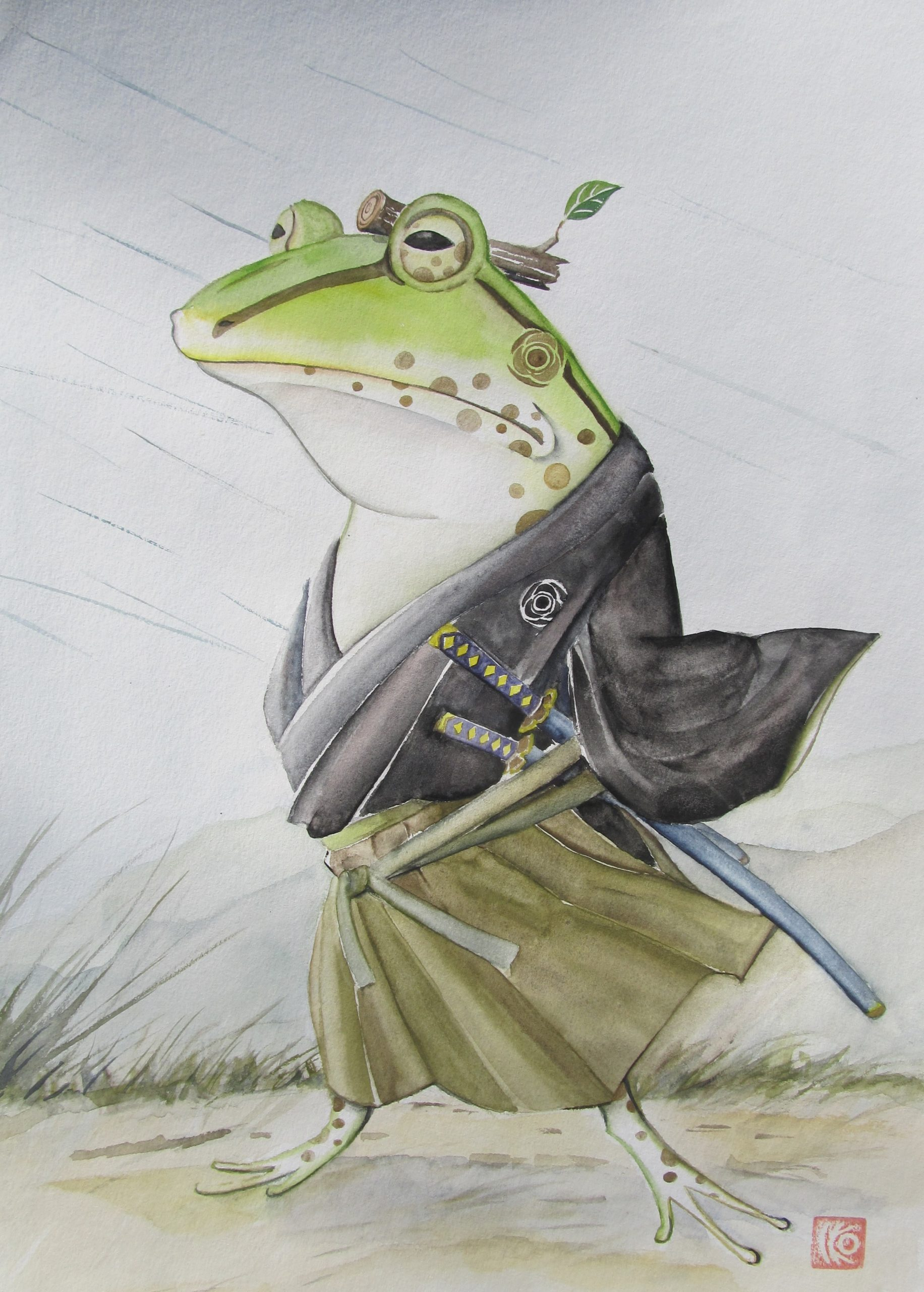 Samurai Frog Art Lovers Australia