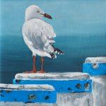 Seagull – blue poles