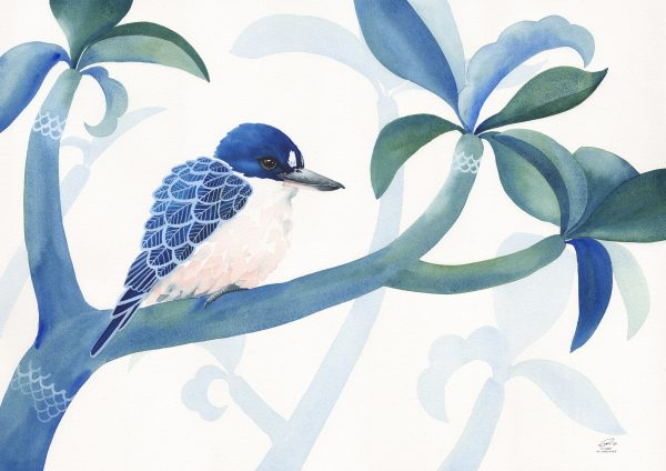 Forest Kingfisher And Foliage – Clare Mccartney