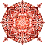 Root or Base Chakra  Digital Textured Mandala  Ltd Ed Print