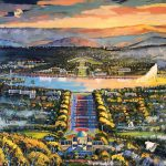 Canberra Panorama (view from mount Ainslie) An Ode to my City