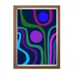 Peacock – Abstract Modernist Ltd Ed print