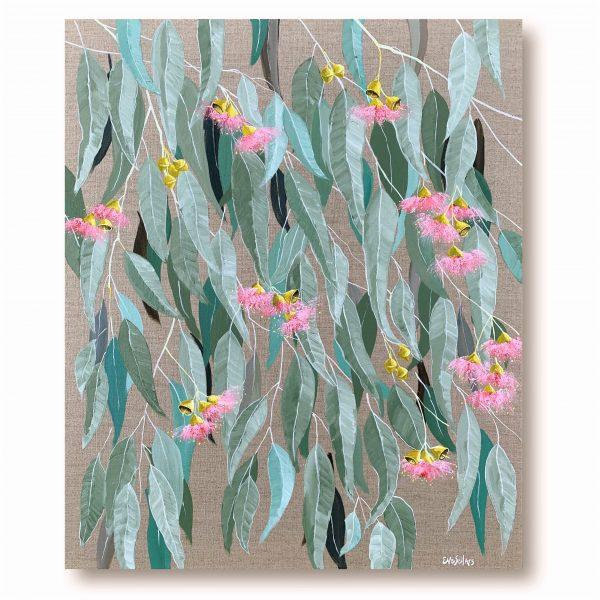 Pretty In Pink Original Painting By Australian Artist Eve Sellars 5