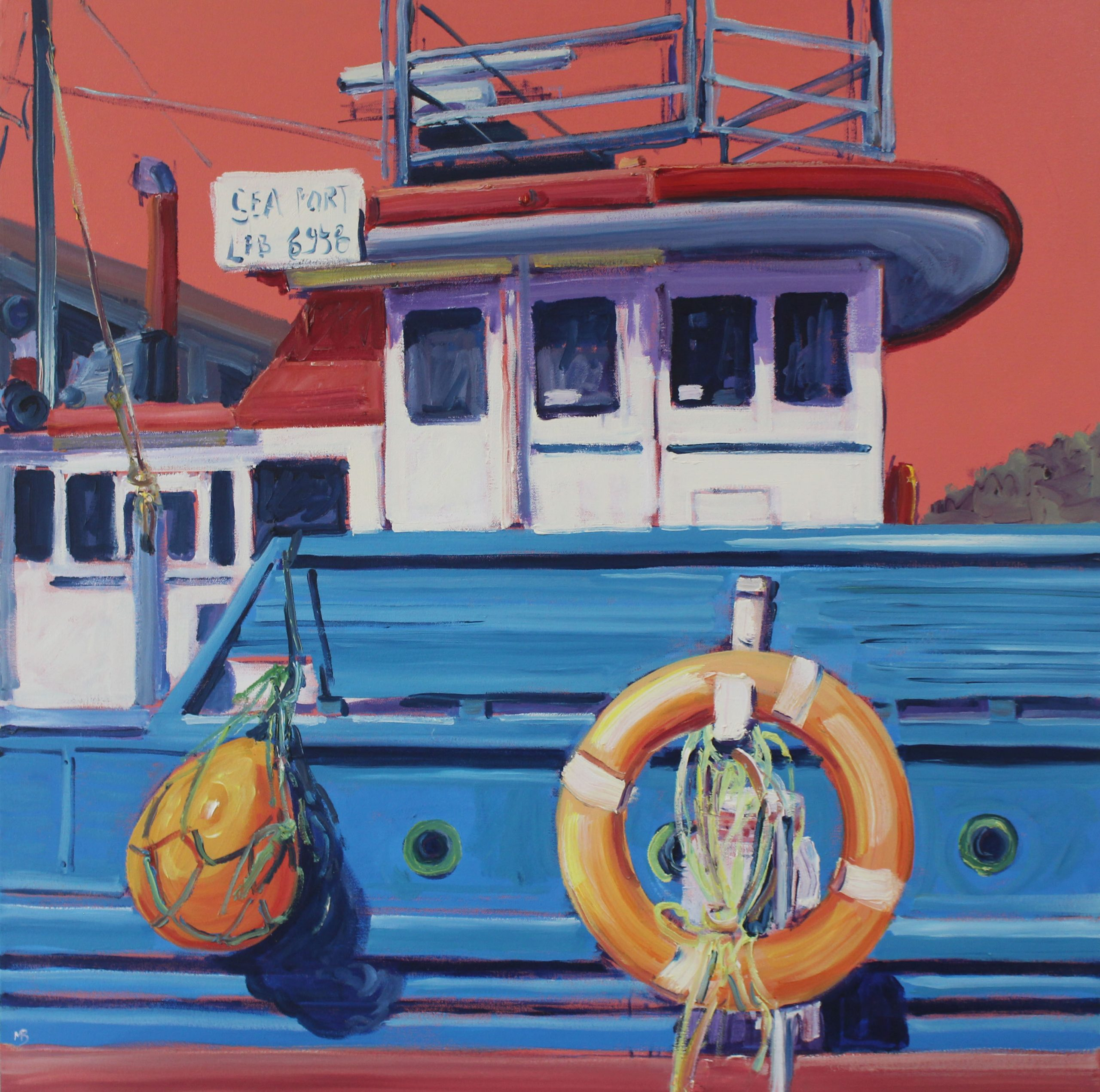 Sea Port 76x76cm Megan Barrass