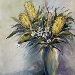 The Three banksias in a Vase