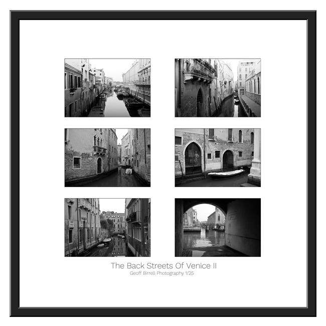 The Back Streets Of Venice Ii Framed Border