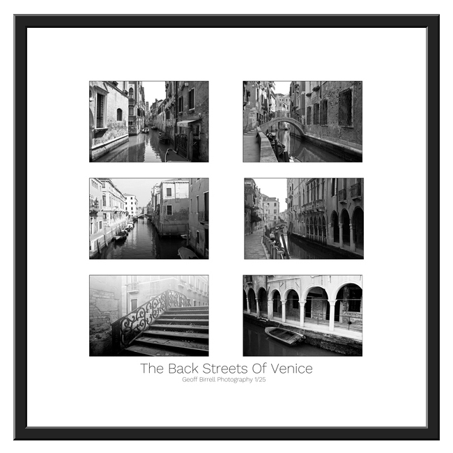 The Back Streets Of Venice Framed Border