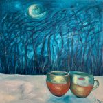 Two Cups Kissing In The Moonlight