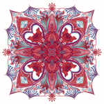 Floral Digital Mandala  Ltd Ed Print