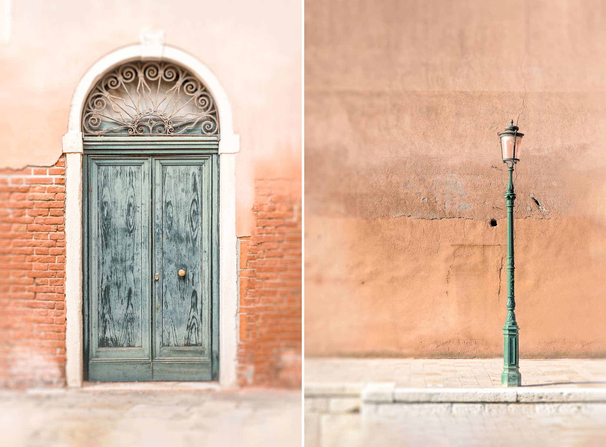 Venice Door And Lamp Diptych