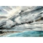 Tsunami cloud over Bondi Beach – Original watercolour painting