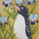 Irises and Penguin