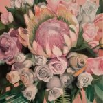 Protea Bouquet on Pink