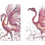 Dance of the Pink Flamingos, 2 x Ltd Ed Print Set