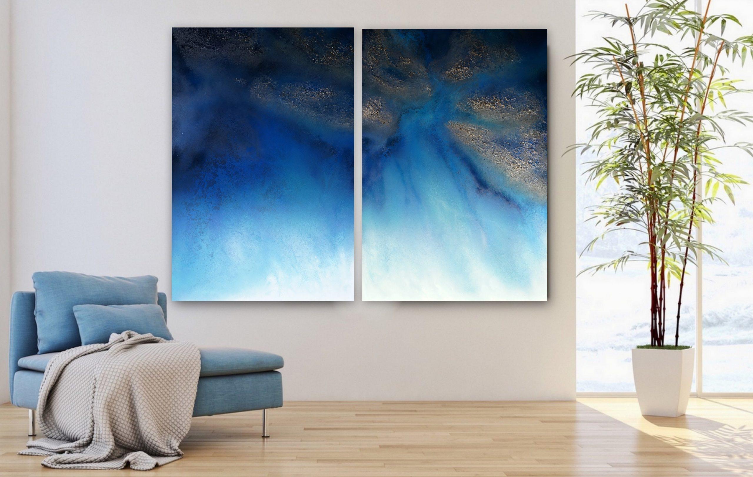 Blue Wall Art For Sale By Petra Meikle De Vlas1