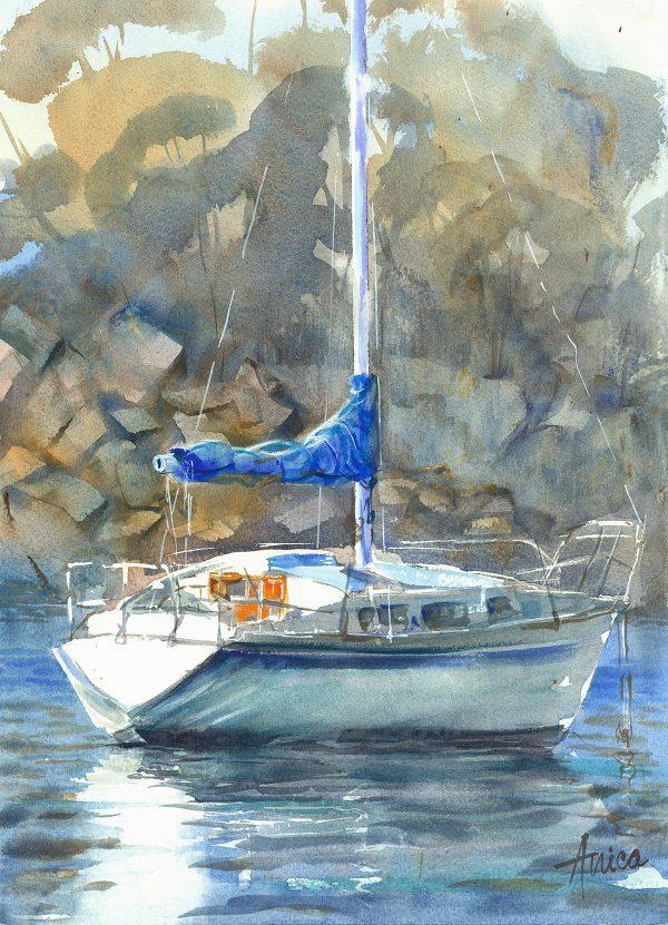 Boat In Ulladulla Harbour