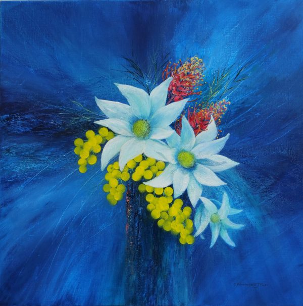 Clare Riddington Jones, Spring Is In The Air, Acrylic On Canvas, 76cm X 76cm