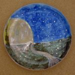 Moon and Path (On A Plate)