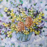 Wattle and Banksia Still Life Painting
