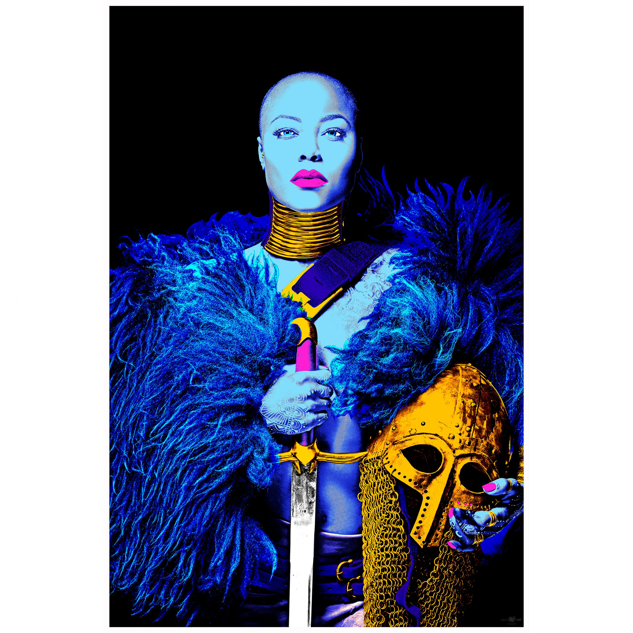Fearless In Blue 72cm X 107cm One Of 22 By Kw Print