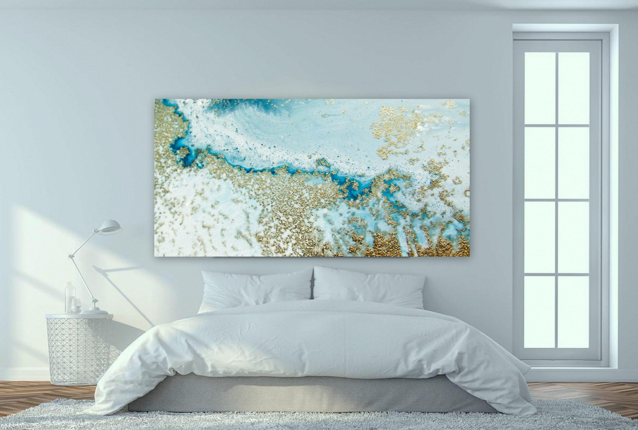 Gold Wall Art Reef Shallows Petra Meikle De Vlas