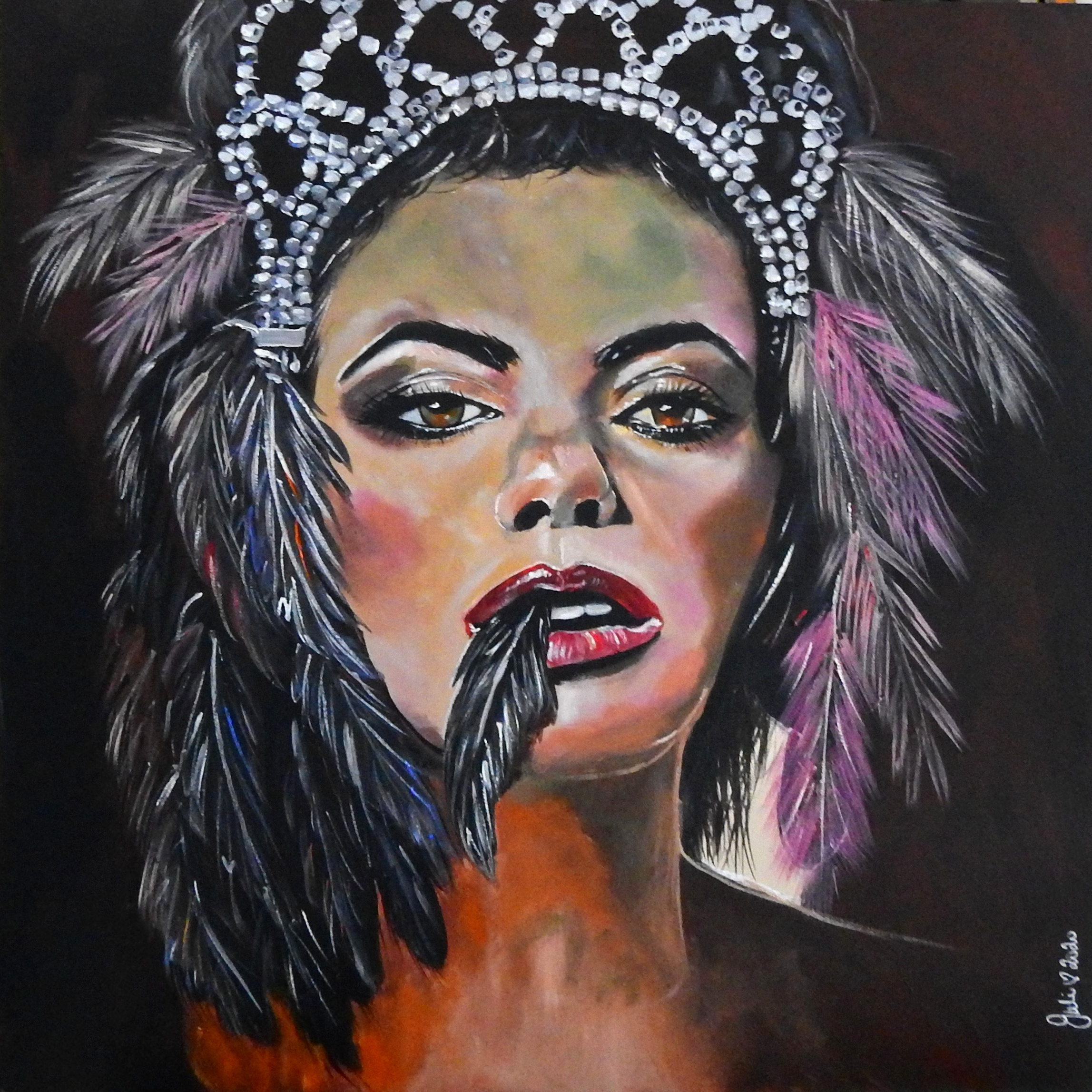 Its All About Feathers And The Tiara Juliehollisart