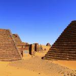 Panorama Meroë Necropolis, Pyramids Southern Burial Ground, Sudan – Ltd Ed Print