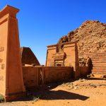 Panorama Meroë Necropolis, Pyramids Northern Burial Ground, Sudan – Ltd Ed Print