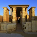 Roofed Colonnade Corridor leading onto Complex of the Step Pyramid of Djoser, Saqqara, Egypt – Ltd Ed Print