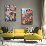 Camellia and Grevillea – Set of 2  – Wild Botanical Abstract Series