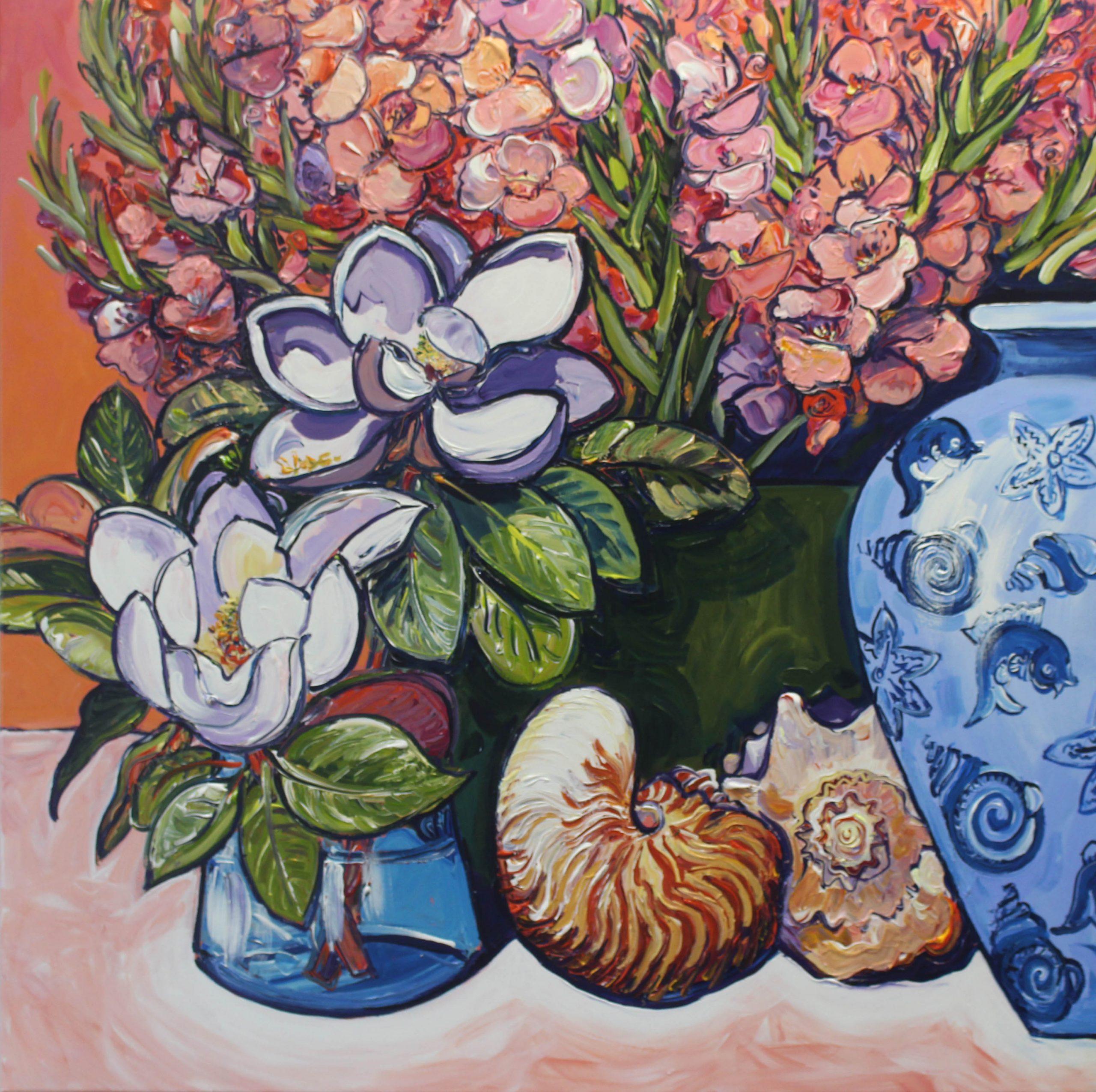 Sea Shells And Flowers P1 Megan Barrass