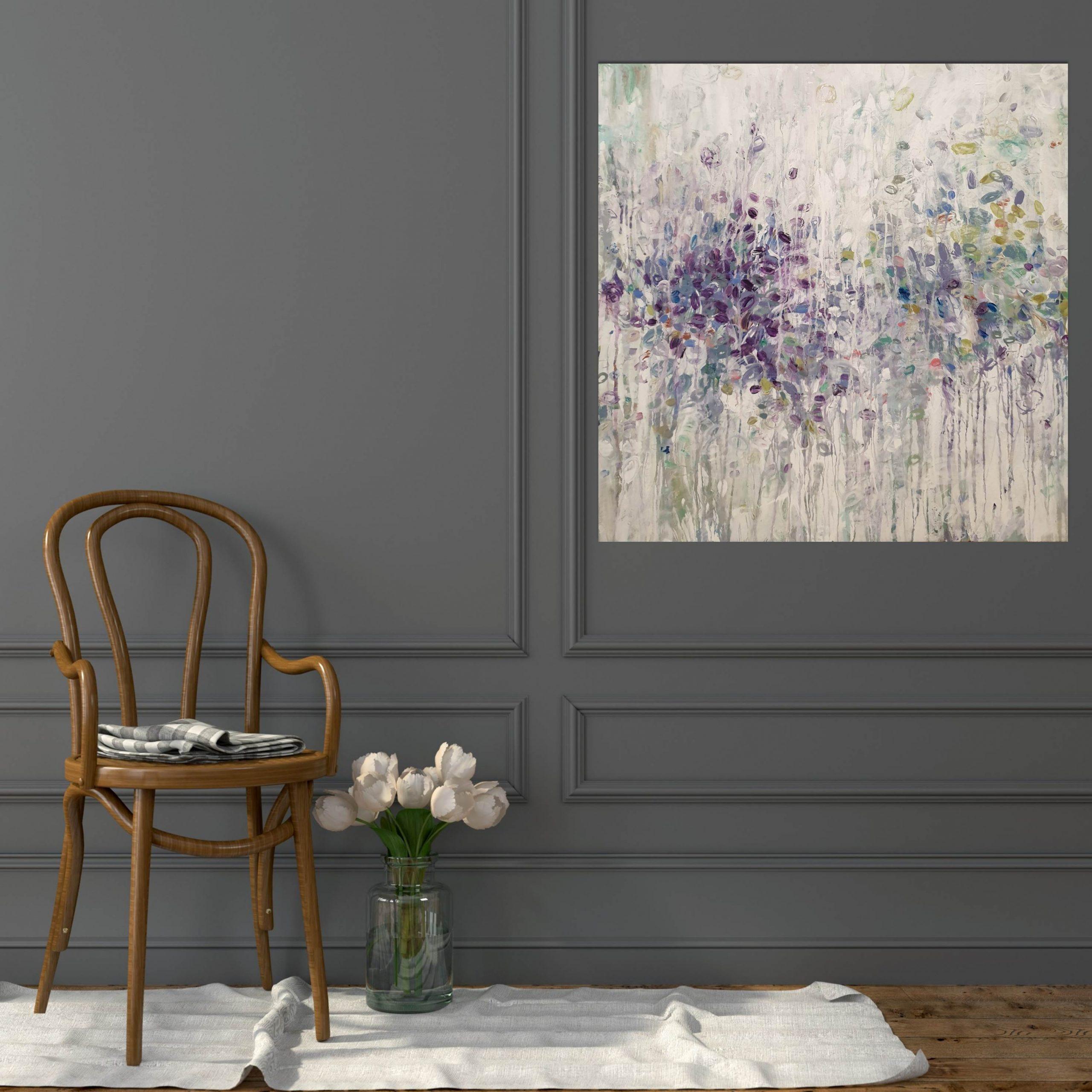 Spring Flowers Plain Chair