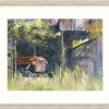 The Old Tractor In Oyster Frame