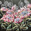 Wild Protea Jen Shewring 2020 74x60x4cm Acrylic On Canvas