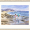 Young Family At Narrawallee Beach In Oyster Frame