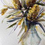 Banksias in a vase