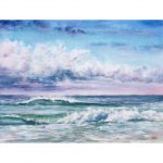 Clouds and Waves – Original watercolour painting