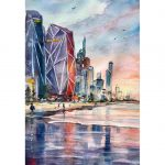 Gold Coast – Original watercolour painting