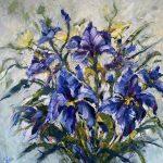 Irises on display
