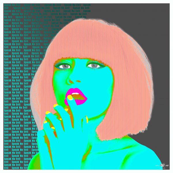 Make It Pop Art Limited Edition Speak No Evil Blue